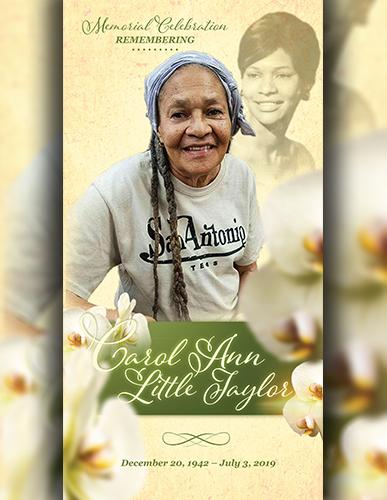 Carol Ann Little Taylor 1942-2019