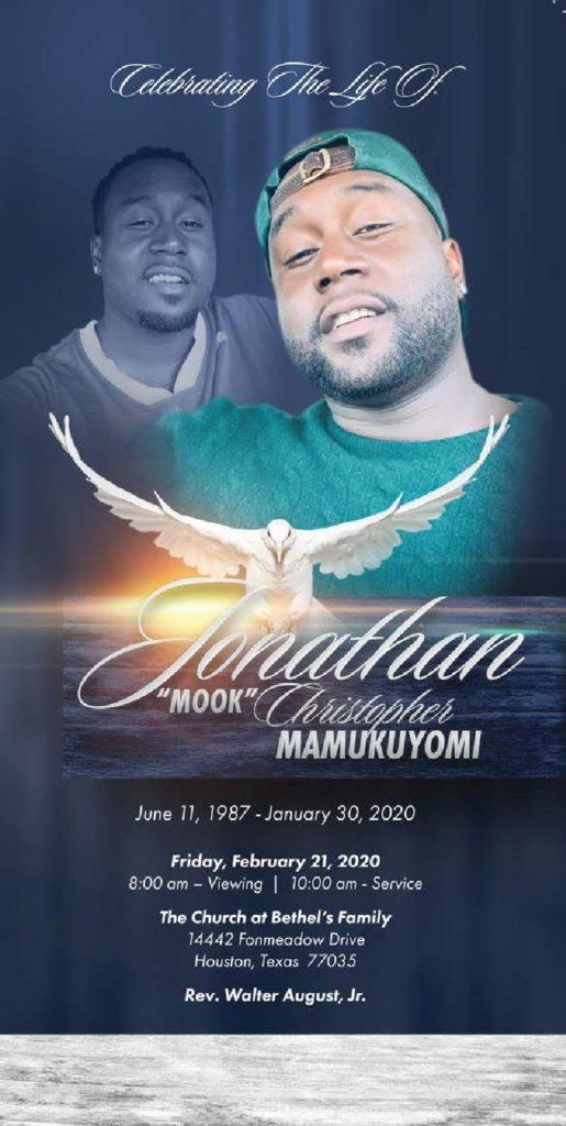 Jonathan Mamumkuyomi 1987 – 2020