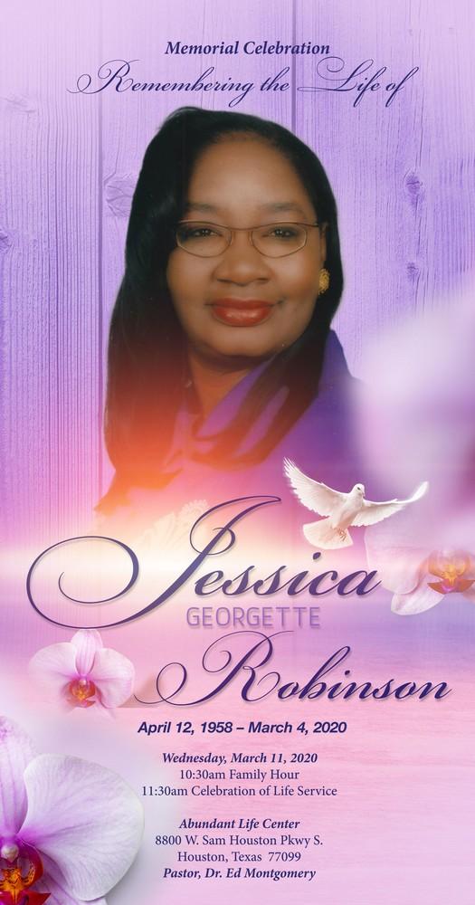 Jessica Robinson 1958 – 2020