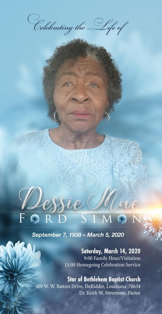 Dessie Mae Simon 1938 – 2020
