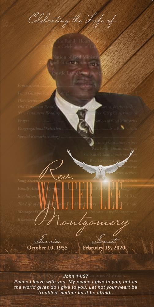 Walter Lee Montgomery 1955 – 2020