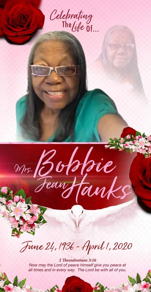 Bobbie Jean Hanks 1936 – 2020