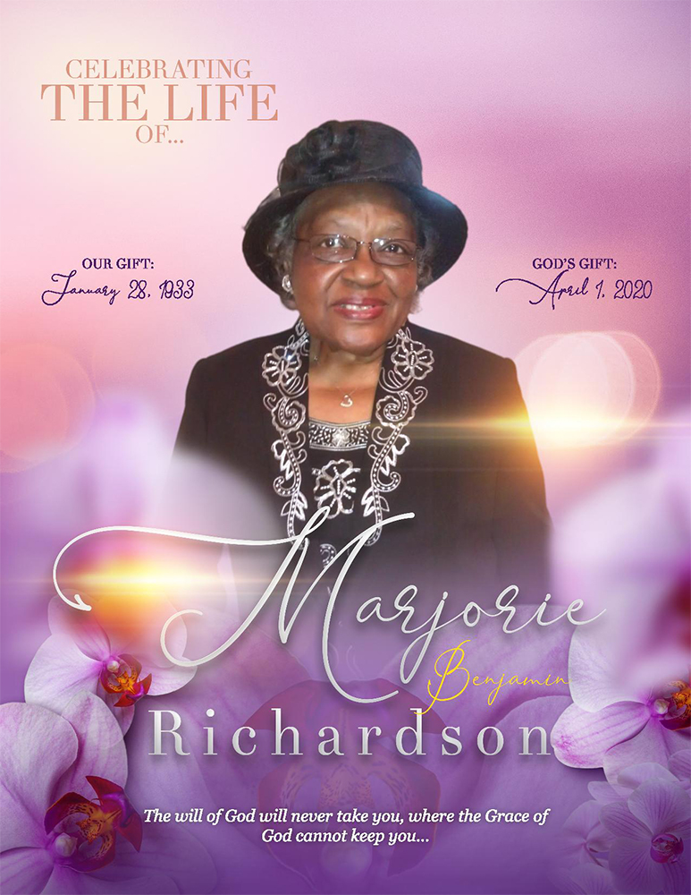 Marjorie Richardson 1933 – 2020