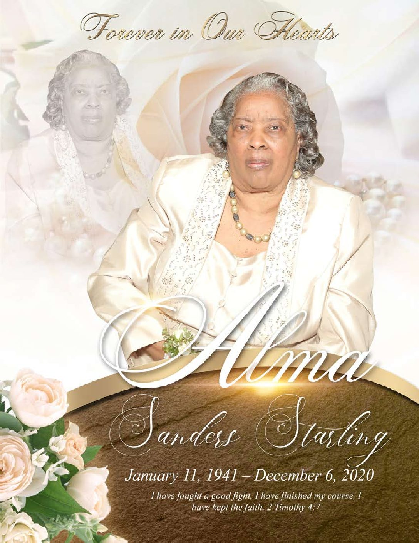 Alma Sanders Starling 1941-2020