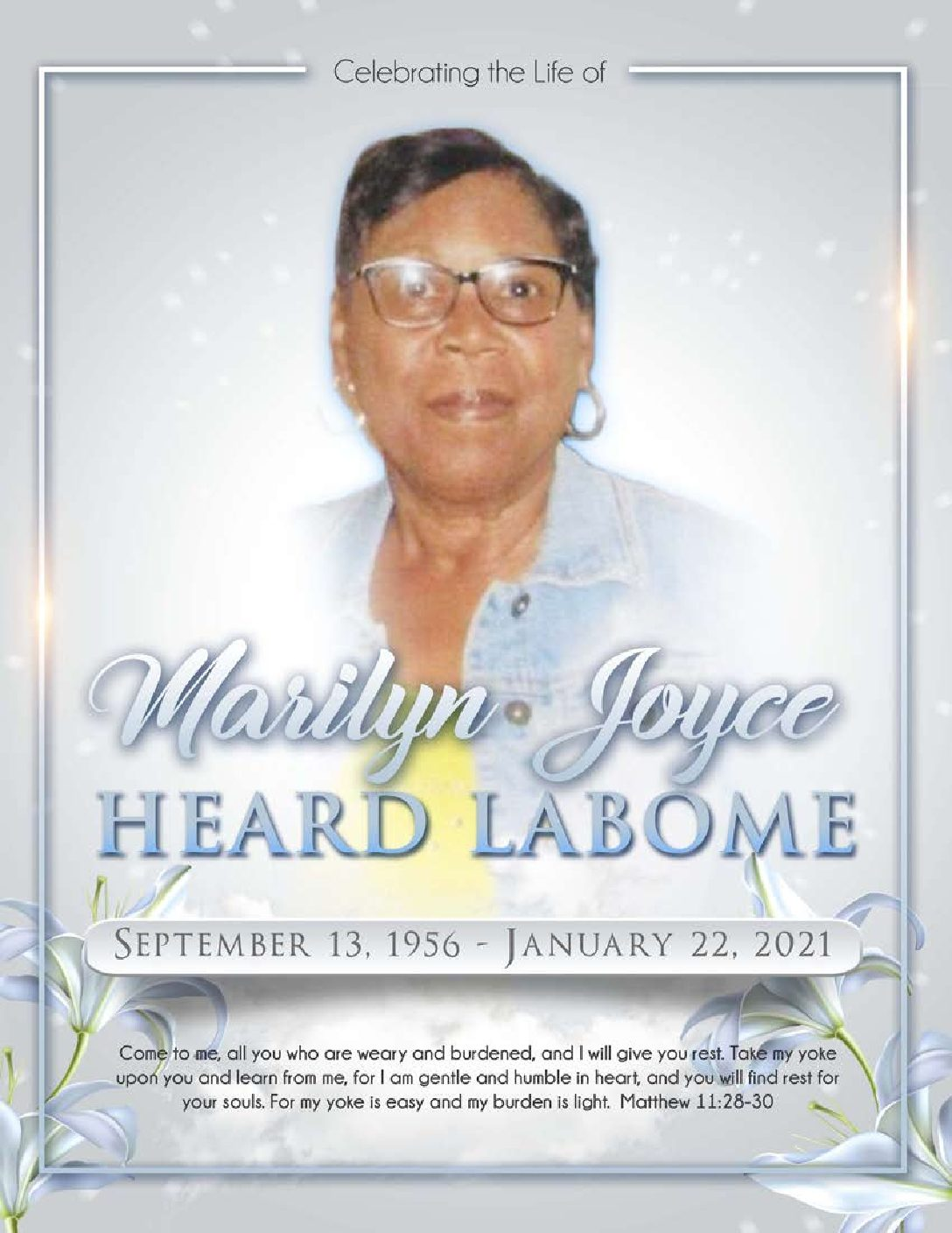 Marilyn Joyce Heard LaBome 1956-2021