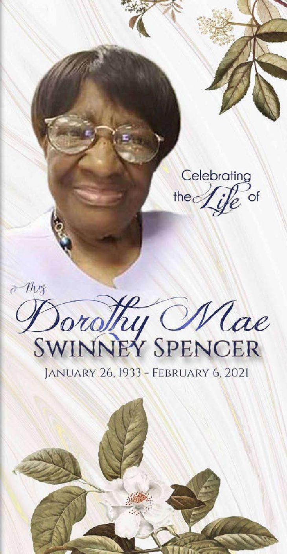 Dorothy Mae Swinney Spencer 1933-2021