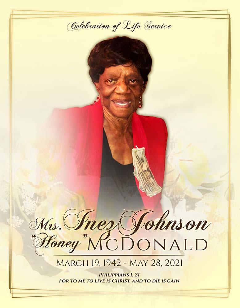 Inez Johnson McDonald 1942-2021